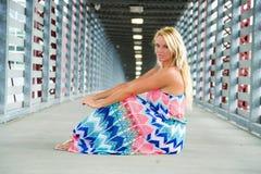 Seksowny blondynki dziewczyny mody model Zdjęcie Stock