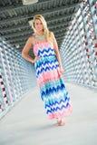 Seksowny blondynki dziewczyny mody model Obraz Stock