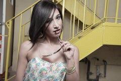 seksowny brunetki headshot Zdjęcia Royalty Free