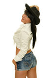 Seksowny cowgirl Fotografia Stock