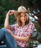 Seksowny cowgirl. Obraz Royalty Free