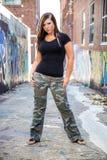 Seksowny dziewczyny mody model z brown włosy zdjęcia royalty free
