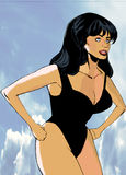 Seksowny dziewczyny wezwanie Lorna w plaży Obrazy Royalty Free