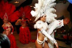 Seksowny flamenco tancerz wykonuje jej tana fotografia stock