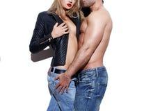 Seksowny młody nagi modny pary ciało Zdjęcie Stock