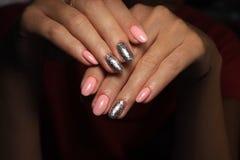 seksowny manicure gwoździe obraz royalty free