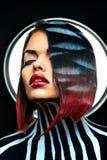Seksowny moda portret w studiu Zdjęcia Royalty Free