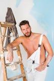 Seksowny nagi klatka piersiowa malarz obrazy royalty free