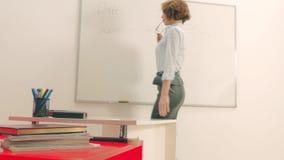 Seksowny nauczyciel w sala lekcyjnej lub korporacyjnym biurze zbiory