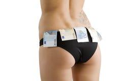 seksowny osła pieniądze Obrazy Royalty Free