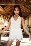Seksowny portret piękna Azjatycka dziewczyna na lecie Zdjęcie Stock