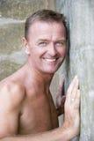 seksowny przystojny forties mężczyzna Fotografia Royalty Free