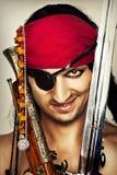 Seksowny przystojny męski pirat Zdjęcia Royalty Free