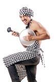 Seksowny samiec kucharz odizolowywający Obrazy Royalty Free