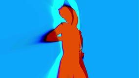 Seksowny tancerza cień, sylwetka ilustracja wektor