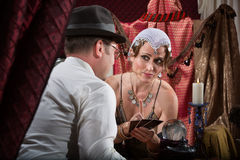 Seksowny Tarot czytnik kart Fotografia Royalty Free
