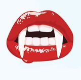 Seksowny wampira usta Obraz Stock