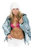 Seksueel meisje in een hoed Royalty-vrije Stock Afbeelding