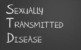 Seksueel - overgebrachte ziekte Royalty-vrije Stock Foto's