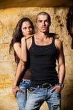 Seksueel paar in hol Royalty-vrije Stock Foto's