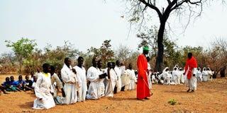 Sekte Zimbabwe van de Mapostori de Openluchtkerk Royalty-vrije Stock Foto