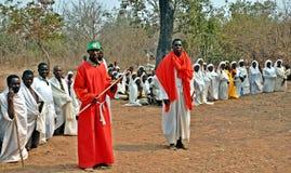 Sekte Zimbabwe van de Mapostori de Openluchtkerk Royalty-vrije Stock Afbeelding