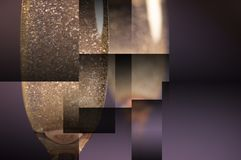 Sektglasgeometriehintergrund lizenzfreies stockfoto