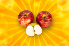 Sektions- Apple Arkivfoto
