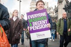 Sektorów publicznych strajki, Londyn fotografia royalty free