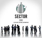 Sektor-Produktions-industrielles Herstellungs-Konzept stockfoto