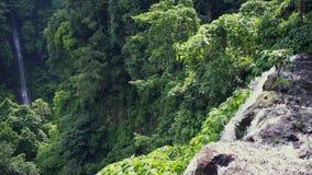 Sekumpul waterfall from aside, Bali Island. Indonesia stock video