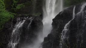 Sekumpul Waterfall in Bali, Indonesia. Slowmotion stock video