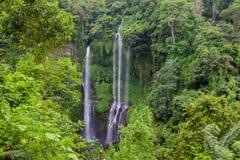 Sekumpul Waterfalls in Bali Stock Images