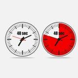 48 sekund zegar na szarym tle ilustracja wektor