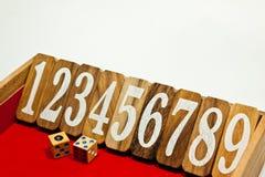 Sekventiellt nummer Arkivbild
