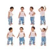 Sekwencja afrykanina dziecka pozycja Zdjęcia Stock
