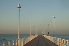 Lampy na nabrzeżu Zdjęcia Stock