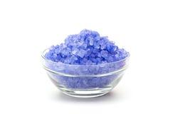 Sel bleu de couleur de mer en glaces Photos stock