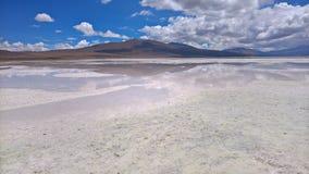 Sel d'Ascotan plat - le Chili Image stock