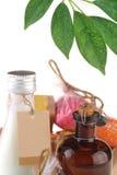 sel d'huile de lait de massage de fuselage Photographie stock