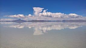 Sel d'Uyuni plat - la Bolivie Photographie stock libre de droits