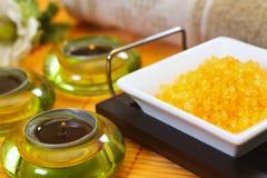 Sel de bain de citron Image stock