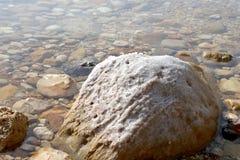 Sel de mer morte chez la Jordanie photographie stock libre de droits