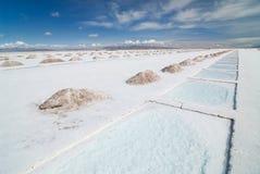 sel de salines de regroupements de grandes d'extraction