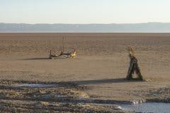 sel du Sahara de lac tunisia photographie stock libre de droits