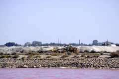 Sel fonctionnant Aigues-Mortes salin de mer de site Photo stock