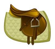 Sela do cavalo de Brown com uma cobertura Fotos de Stock