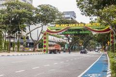 Selamat hari raya aidilfitri celebrate on street Kuala Lumpur Malaysia