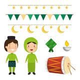 Selamat hari raya aidilfitri. Vector illustration design Stock Photo