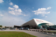 SELANGOR - 18 ΜΑΐΟΥ: Αυτό το τερματικό Skypark τώρα μόνο για τη χαμένη πτήση δαπανών μέσα στη Μαλαισία στις 18 Μαΐου 2012 Selango Στοκ φωτογραφίες με δικαίωμα ελεύθερης χρήσης